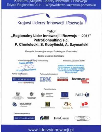"""Tytuł: """"Regionalny Lider Innowacji i Rozwoju"""" dla usługi Zdalnego Wsparcia Technicznego. - Styczeń 2012"""