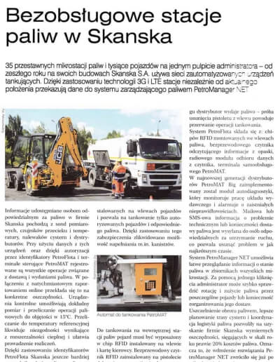 Artykuł - Bezobsługowe stacje paliw w SKANSKA