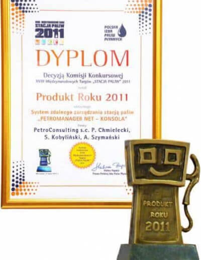 Tytuł Produkt Roku 2011 dla systemu PetroManager NET - Maj 2011