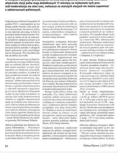 Artykuł o dystrybutorach paliw w czasie modernizacji stacji paliw