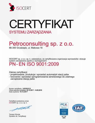 Jakość w PetroConsulting, niezmiennie na najwyższym poziomie. - 19.12.2017