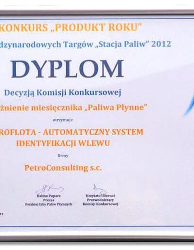 Wyróżnienie dla Systemu PetroFlota - Maj 2012