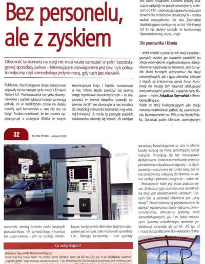 O automatach na stacji paliw i o korzyściach z tego płynących