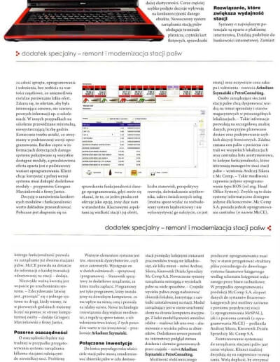Informacje o systemach zarządzania stacją paliw