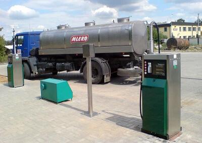 Dystrybutory paliw w mleczarni