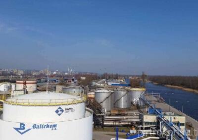 Wykonanie opomiarowania zbiorników w bazie Baltchem w Szczecinie