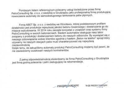 abet list referencyjny