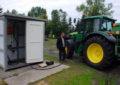Naziemny zbiornik w kontenerze dla rolnictwa