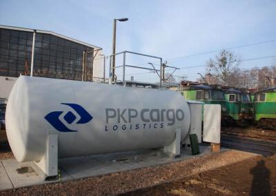 Naziemny zbiornik do paliwa w PKP Cargo