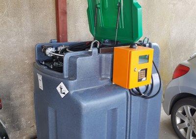 zbiornik mobilny z kontrolą tankowań